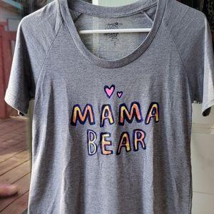 Natural life mama bear soft grey gray tshirt tee